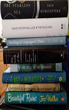 Evi Buell Book Spine Poem graphic.