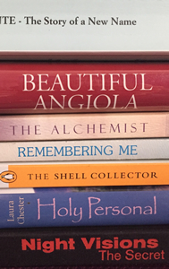 Gail Rappa Book Spine Poem graphic.