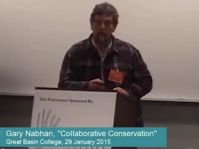"Gary Nabhan, ""Collaborative Conservation"" excerpt"