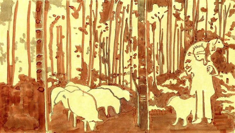 Basque Sheepherders Concept Art