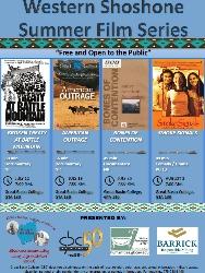 2017 Western Shoshone Summer Film Series poster graphic.