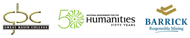 Great Basin College, National Endowment for the Humanities, and Barrick Mining logos