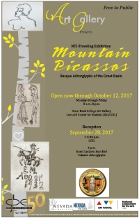 Mountain Picassos exhibit poster
