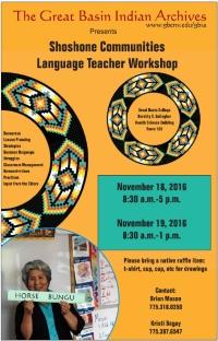 Shoshone Language Workshop flyer