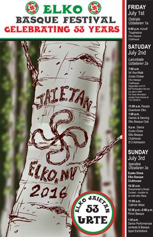 2016 Elko Basque Festival Poster
