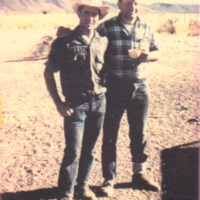 Ramon and Jame Zugazaga at Goicoechea Ranch, 1960s