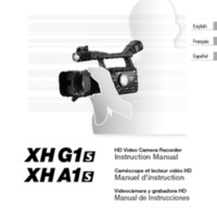 Canon X1 Series HD Video Camera Manual