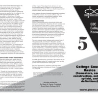 College Course Basics (Semesters, course construction,  outlines, syllabi, and definitions)<br /><br />