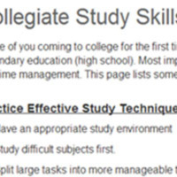 Collegiate Study Skills - WebCampus Page