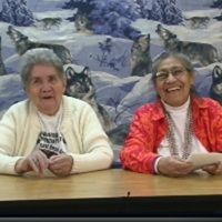 Clara Woodson and Gracie Begay photo