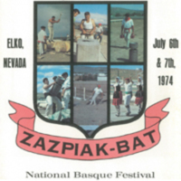 1974 Elko National Basque Festival Program