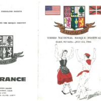 1966 Elko National Basque Festival Program