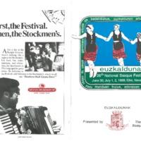 1989 Elko National Basque Festival Programs