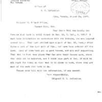 Letter from E. C. McClellan to U. S. Claims Office, 24 August 1907