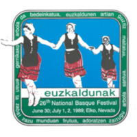 1989 Elko National Basque Festival Programs