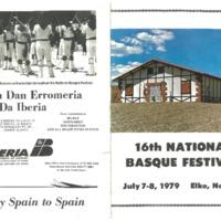 1979 Elko National Basque Festival Program