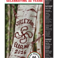 Official Poster for the 2016 Elko National Basque Festival