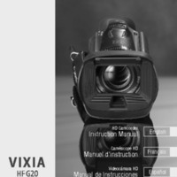 Canon Vixia HF G20 Camera Manual