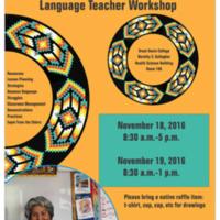 Shoshone Communities Language Teacher Workshop - 2016  (flyer)