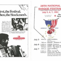 1991 Elko National Basque Festival Program