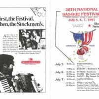 1991 Elko National Basque Festival Program
